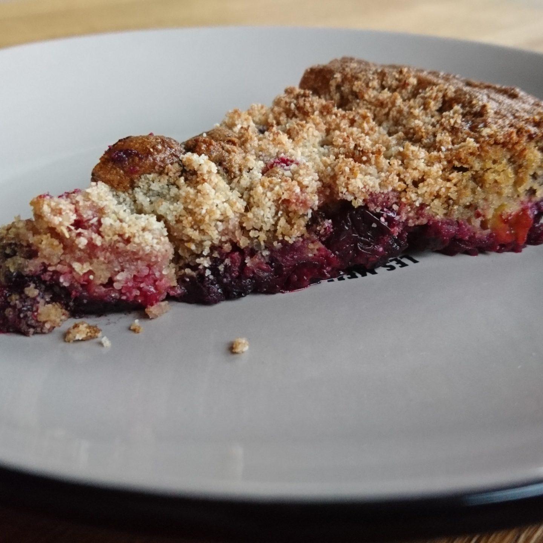 Ovocný koláč s drobenkou (bez lepku a cukru)